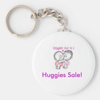huggies, Huggies Sale! Basic Round Button Key Ring