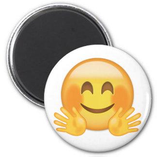 Hugging Face Emoji 6 Cm Round Magnet