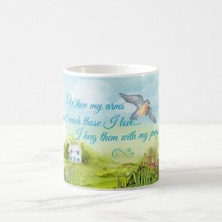 Hugging You With My Prayers Card Coffee Mug