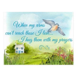 Hugging You With My Prayers Card Postcard