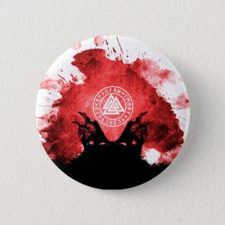Huginn and Muninn Odin's Ravens 6 Cm Round Badge