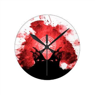 Huginn and Muninn Odin's Ravens Round Clock