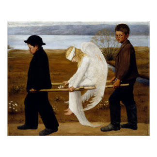 Hugo Simerg The Wounded Angel Poster