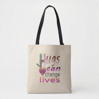 Hugs: A Beautiful Virus Tote Bag