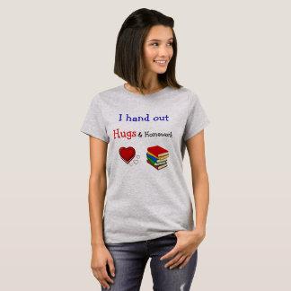 Hugs and homework teacher shirt