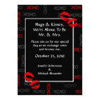 Hugs and Kisses Black Red Wedding Invitations