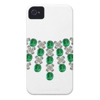 Hugs and Kisses Emerald Necklace iPhone 4 Case