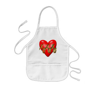 Hugs and Kisses Heart T-shirts and Gifts Kids Apron