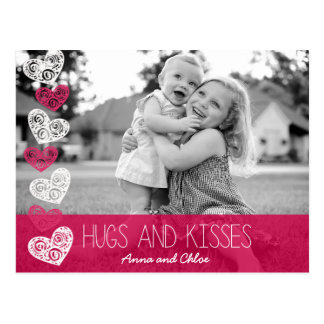 Hugs and Kisses Photo Postcard