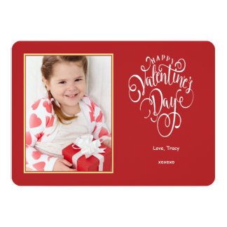 Hugs and Kisses Photo Valentine's Day Card 13 Cm X 18 Cm Invitation Card