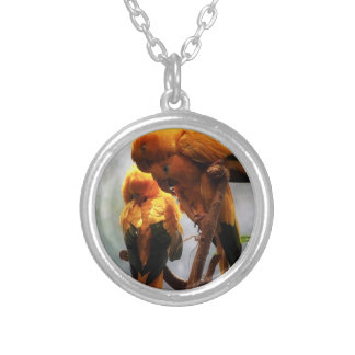 Hugs and Kisses Silver Plated Necklace