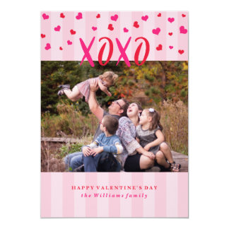 Hugs and Kisses Valentine's Day Photo Cards 13 Cm X 18 Cm Invitation Card