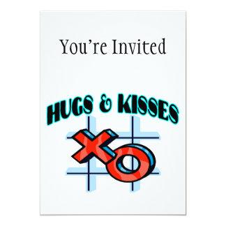Hugs And Kisses XO 5x7 Paper Invitation Card