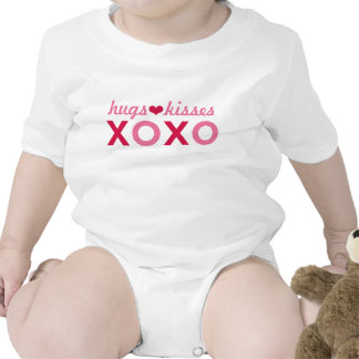 Hugs and Kisses XOXO   Valentine's Day Rompers