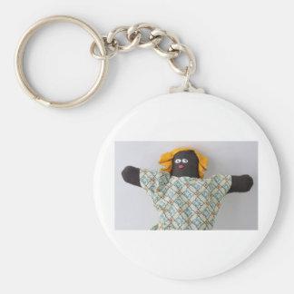 HUGS doll photo Basic Round Button Key Ring