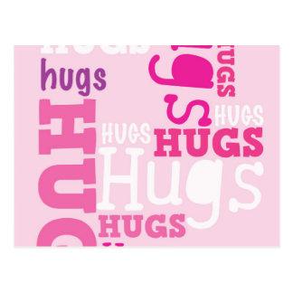 HUGS HUGS HUGS POST CARD
