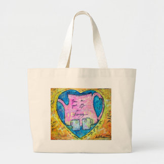 Hugs in a pot large tote bag