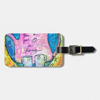 Hugs in a pot luggage tag