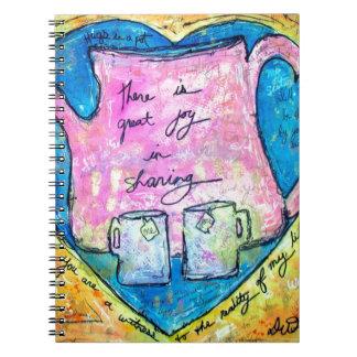 Hugs in a pot notebook