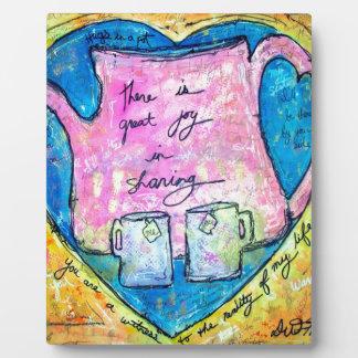 Hugs in a pot plaque