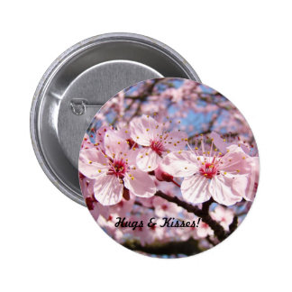 Hugs Kisses buttons Pink Blossom Flower Trees