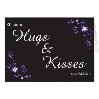 hugs&kisses for my husband card