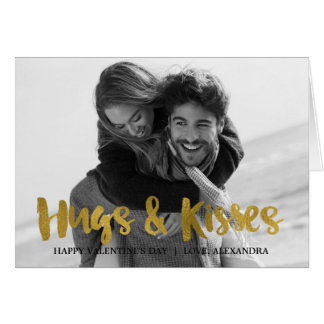 Hugs & Kisses Gold Foil Valentine's Day Card