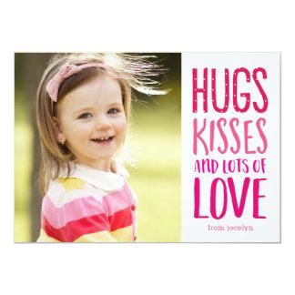 Hugs Kisses Love Valentine's Day Photo Cards 13 Cm X 18 Cm Invitation Card