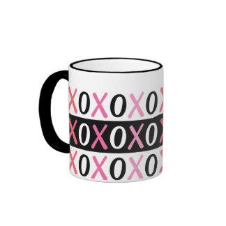 Hugs & Kisses Pattern Valentine Mug