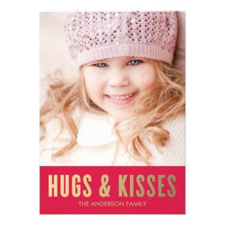 Hugs Kisses Valentine s Day Photo Card