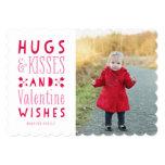 Hugs & Kisses| Valentine's Day Photo Card 13 Cm X 18 Cm Invitation Card
