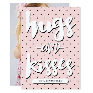 Hugs & Kisses   Valentine's Day Photo Card 13 Cm X 18 Cm Invitation Card