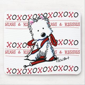 Hugs & Kisses Westie Mousepad