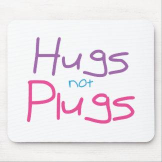 Hugs not Plugs (Pink) Mouse Pad