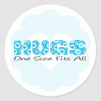 Hugs One Size Fits All Classic Round Sticker
