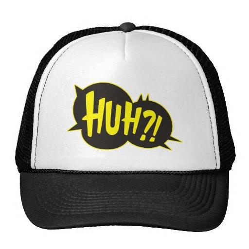 Huh Cartoon Boom Splat Trucker Hats