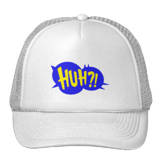 HUH! COMIC BOOK SPEECH BUBBLE CAP