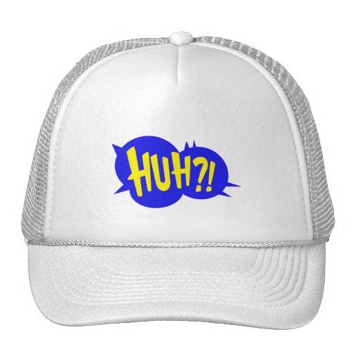HUH! COMIC BOOK SPEECH BUBBLE HAT