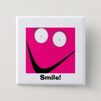 HUH, Smile! 15 Cm Square Badge