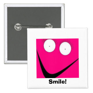 HUH, Smile! 15 Cm Square Badge