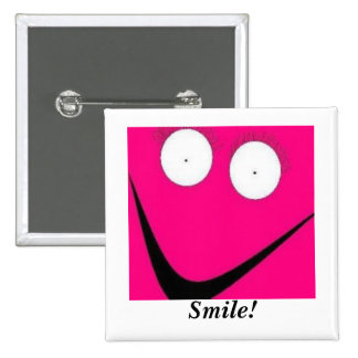 HUH, Smile! Pinback Buttons
