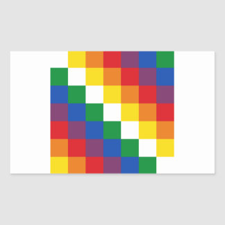 Huipala/Wipala Flag. Andean Qulla Suyu. Bolivia Rectangular Sticker
