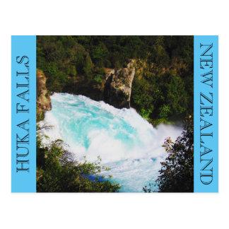 huka falls blue postcard