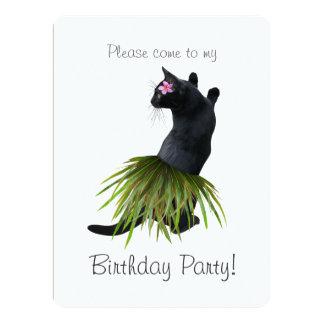 Hula Cat Birthday Party Invitation