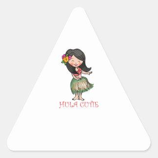 Hula Cutie Triangle Sticker