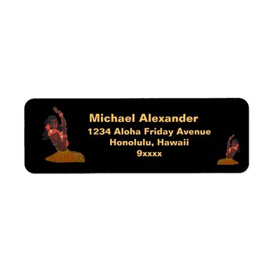 Hula Dancer Aloha Return Address Label