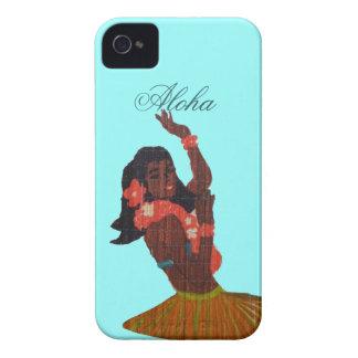 Hula Dancer Aloha Seafoam green iPhone 4 Covers