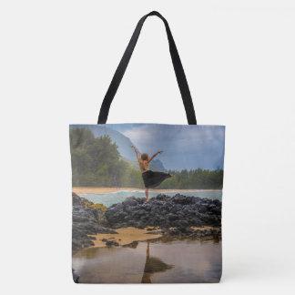 Hula Dancer Lumaha'i Beach, Hawaiian Beach Bag