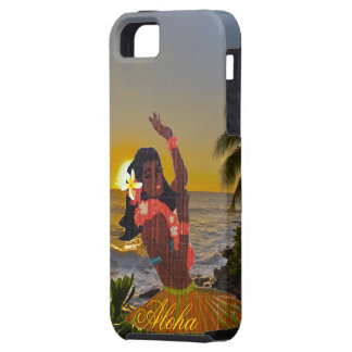 Hula Dancer with Tropical Beach Sunset Case For The iPhone 5