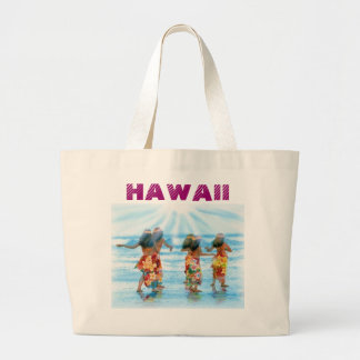 Hula Dancers j pec venette, HAWAII Large Tote Bag